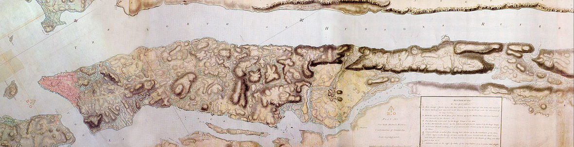 The British Headquarters Map, circa 1782, is the best record of Mannahatta's early topography and ecology. ©National Archives, London