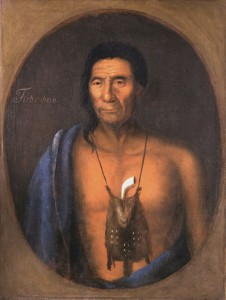 Chief Tishcohan, the late Delaware chief. Courtesy of The Historical Society of Pennsylvania Collection, Atwater Kent Museum of Philadelphia.